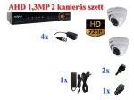 NOVUS 2 kamerás AHD 720P HD AHD 1,3MP dome kamera rendszer szett kábel és winchester nélkül