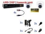 NOVUS 2 kamerás AHD FULL-HD AHD 2MP AN dome kamera rendszer szett kábel és winchester nélkül