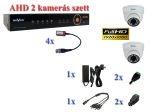 NOVUS 2 kamerás AHD 1080P FULL HD AHD dome kamera rendszer szett kábel és winchester nélkül