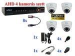 NOVUS 4 kamerás AHD 1080P FULLHD AHD dome kamera rendszer szett kábel és winchester nélkül