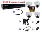 NOVUS 4 kamerás AHD 720P HD AHD 1,3MP dome kamera rendszer szett kábel és winchester nélkül