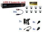 NOVUS 8 kamerás AHD 1080P FULLHD AHD dome kamera rendszer szett kábel és winchester nélkül