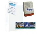 INIM IMB-ABILITY 510M riasztórendszer panel, doboz, táp, LCD szöveges kezelőegység, PS-128 sziréna