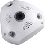 Videosec IPF-126 Fix 360° FishEye dome kamera Array IR LED Onvif 1.3MP
