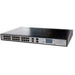Videosec PS-1024EPL-2C 24xPoE 802.3at 10/100 + 2xGigabit LCD Switch 420W