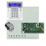 Paradox SP4000 riasztórendszer dobozzal, K32 LCD+ szöveges kezelő, 30VA táp