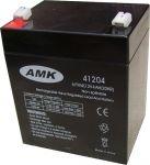 AMK 12V 4Ah MS4-12 zselés biztonságtechnikai, riasztórendszer akkumulátor, riasztó akku