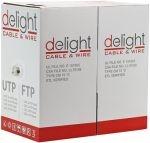 Tömör 4 x 2 x 0,5 FTP CAT.6 Delight kábel a CAT.6 szabványnak megfelelő, strukturált hálózatok kábel