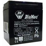 DIAMEC 12V 4,5 Ah zselés biztonságtechnikai, riasztórendszer akkumulátor, riasztó akku
