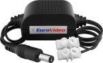 EUROVIDEO tápfeszültség stabilizátor átalakító, bemenet: 15-26 VAC / 15-28 VDC, kimenet: stabilizált