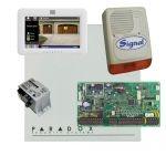Paradox EVO192HD riasztó dobozzal, fehér TM50 érintőképernyős kezelő, 45VA táp, PS128 sziréna