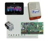 Paradox EVO192HD riasztó dobozzal, fekete TM50 érintőképernyős kezelő, 45VA táp, PS128 sziréna