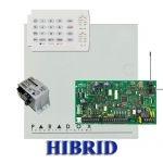 Paradox MG5000 hibrid rádiós riasztó, dobozzal, K10H kezelő, 30VA táp