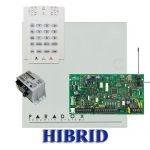 Paradox MG5000 hibrid rádiós riasztó, dobozzal, K10V kezelő, 30VA táp