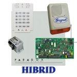 Paradox MG5000 hibrid rádiós riasztó, dobozzal, K10V kezelő, 30VA táp, PS128 szir