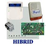 Paradox MG5000 hibrid rádiós riasztó, dobozzal, K32LCD+ kezelő, 30VA táp, PS128 szir