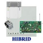 Paradox MG5000 hibrid rádiós riasztó, dobozzal, K32LED+ kezelő, 30VA táp