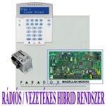 PARADOX MG5050 HIBRID rádiós riasztó, K32LCD kezelő, Makrai PS30H táp
