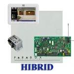 Paradox MG5050 hibrid rádiós riasztó, dobozzal, fehér TM50 érintőképernyős kezelő, 30VA táp