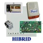 Paradox MG5050 hibrid rádiós riasztó, dobozzal, fehér TM50 érintőképernyős kezelő, 30VA táp, PS128 s