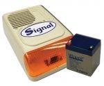 4Ah&SIGNAL PS-128A kültéri sziréna (hang és fényjelző) + 4Ah akkumulátor