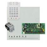 Paradox SP4000 riasztórendszer dobozzal, K10V kezelőegység, 30VA tápegység