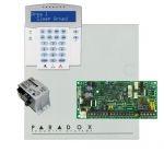 Paradox SP4000 riasztó dobozzal, a kezelővel HIBRID rádiós, K32LX RÁDIÓS szöveges kezelő, 30VA táp