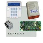 Paradox SP4000 riasztó dobozzal,a kezelővel HIBRID rádiós, K32LX RÁDIÓS kezelő, 30VA táp, PS