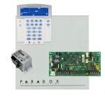 Paradox SP4000 riasztórendszer dobozzal, K35LCD FIX! szöveges kezelő, 30VA táp