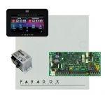 Paradox SP4000 riasztórendszer dobozzal, fekete TM50 érintőképernyős kezelő, Makrai PS30H tápegység