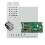 Paradox SP6000 riasztórendszer dobozzal, K10V kezelőegység, 45VA tápegység