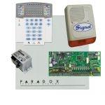 Paradox SP6000 riasztórendszer dobozzal, K32LED+ kezelő, 45VA táp, PS128 kültéri sziréna
