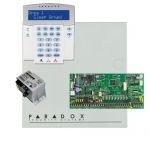 Paradox SP6000 riasztó dobozzal, a kezelővel HIBRID rádiós, K32LX RÁDIÓS szöveges kezelő, 45VA táp