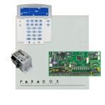 Paradox SP6000 riasztórendszer dobozzal, K35LCD FIX! szöveges kezelő, 45VA táp