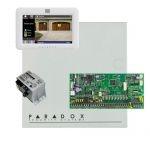 Paradox SP6000 riasztó dobozzal, fehér TM50 érintőképernyős kezelő, 45VA táp