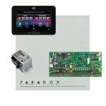 Paradox SP6000 riasztó dobozzal, fekete TM50 érintőképernyős kezelő, 45VA táp