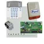Paradox SP7000 riasztórendszer dobozzal, K32LED+ kezelő, 45VA táp, PS128 kültéri sziréna