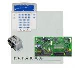 Paradox SP7000 riasztórendszer dobozzal, K35LCD FIX! szöveges kezelő, 45VA táp