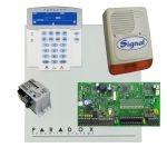 Paradox SP7000 riasztórendszer dobozzal, K35LCD FIX! szöveges kezelő, 45VA táp, PS128 szirén