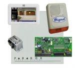 Paradox SP7000 riasztó dobozzal, fehér TM50 érintőképernyős kezelő, 45VA táp, PS128 szir