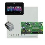 Paradox SP7000 riasztó dobozzal, fekete TM50 érintőképernyős kezelő, 45VA táp