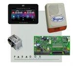 Paradox SP7000 riasztó dobozzal, fekete TM50 érintőképernyős kezelő, 45VA táp, PS128 szir