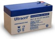 ULTRACELL 12V 1,3Ah zselés biztonságtechnikai, riasztórendszer akkumulátor, riasztó akku