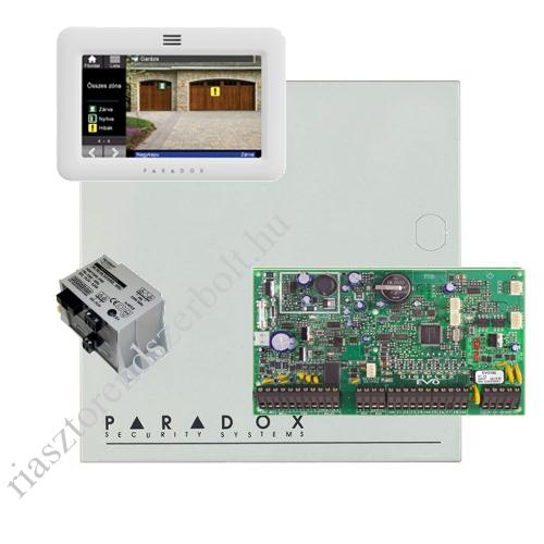 Paradox EVO192HD riasztó dobozzal, fehér TM50 érintőképernyős kezelő, 45VA táp